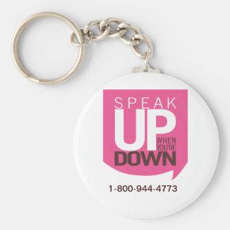 Speak Up When You re Down Keychain