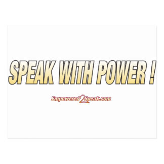 Speak With Power Postcard