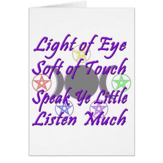 Speak Ye Little  Listen Much Card
