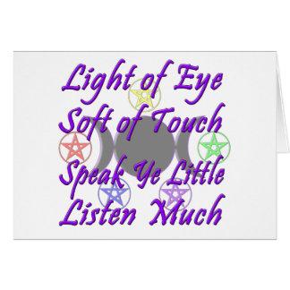 Speak Ye Little  Listen Much Greeting Card