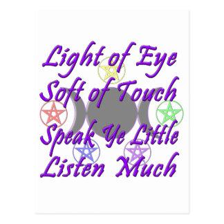Speak Ye Little  Listen Much Postcard