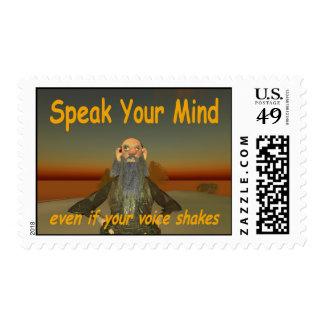 speak your mind postage
