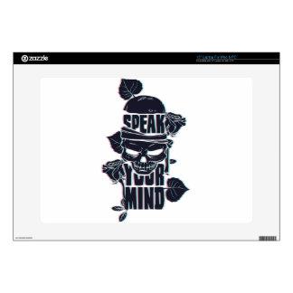 """speak your mind skull skins for 15"""" laptops"""