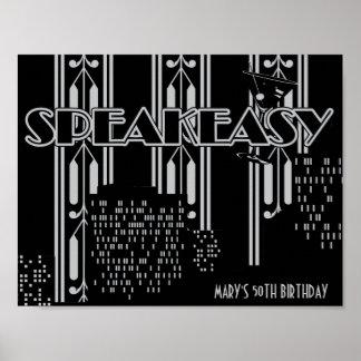 Speakeasy, 1920's Birthday Party Poster