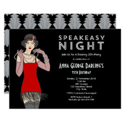 Speakeasy Night Party Roaring 20's Invitation