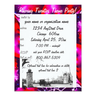 Speakeasy Prohibition Theme Party 4.25x5.5 Paper Invitation Card