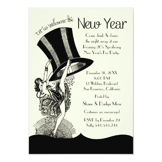 Speakeasy Roaring 20 S New Year S Eve Party Invitation Zazzle Com