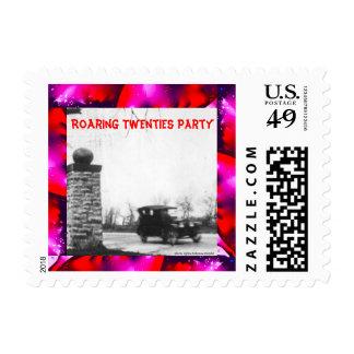Speakeasy Roaring 20s Theme Postage Stamp