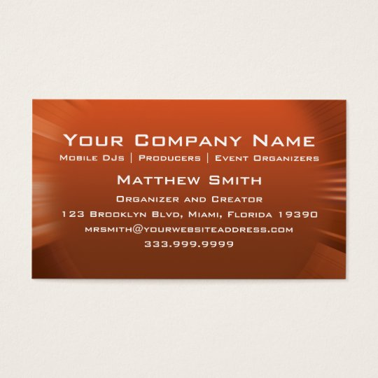 Speaker Attack Business Card