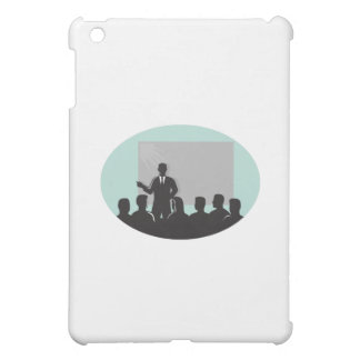 Speaker Audience Projector Screen Oval Woodcut Cover For The iPad Mini