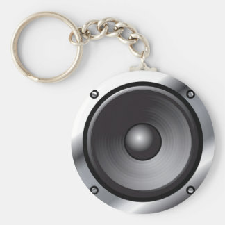 Speaker Basic Round Button Keychain