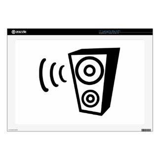 Speaker beat music laptop decals