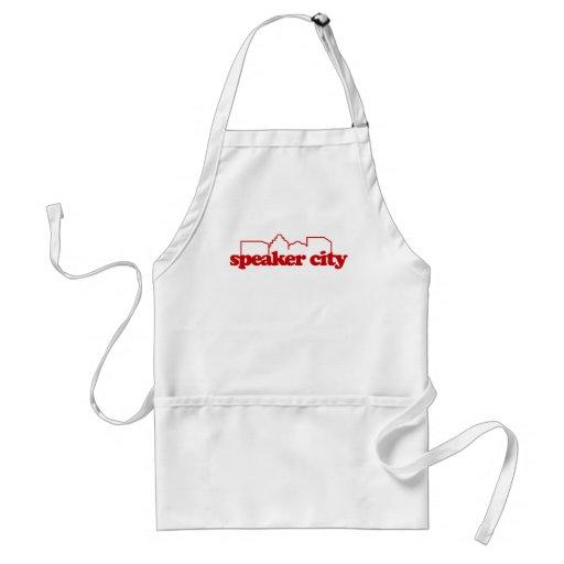 Speaker City old school Adult Apron