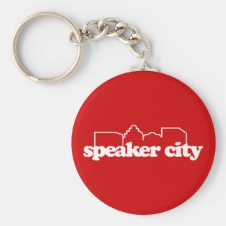 Speaker City old school Basic Round Button Keychain