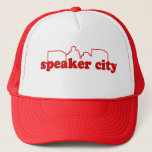 "Speaker City Trucker Hat<br><div class=""desc"">Let them know you all business and your business is Speaker City!  Available in many sizes and styles including women's and kid's</div>"