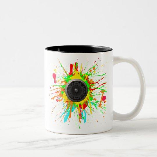 Speaker Cone Two-Tone Coffee Mug