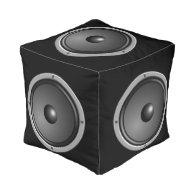 Speaker Cube Cube Pouf