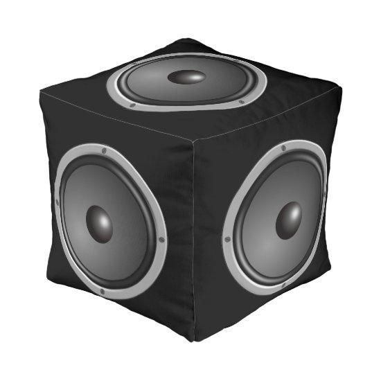 Speaker Cube Pouf