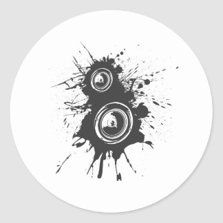 Speaker Graffiti - DJ Music Disc Jockey Audio Classic Round Sticker
