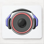 Speaker Headset Mouse Pad