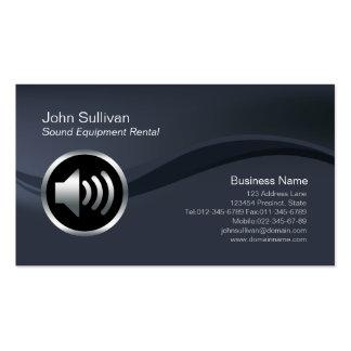 Speaker Icon Sound Equipment Rental Business Card