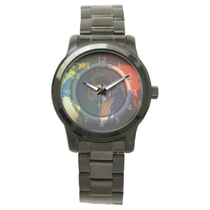 Countries of the world map watches zazzle speaker on a world map background wristwatch gumiabroncs Gallery