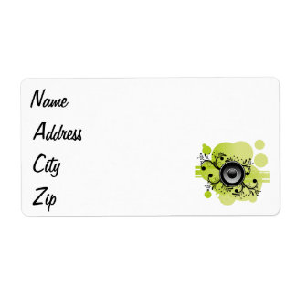 Speaker on abstract background personalized shipping labels