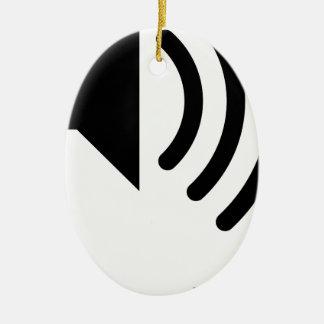 speaker phone ceramic ornament
