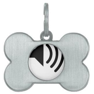 speaker phone pet name tag
