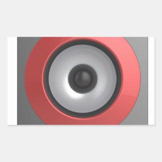 Speaker Rectangular Sticker
