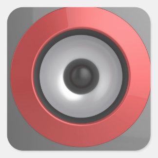 Speaker Square Sticker