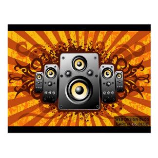 speaker vector postcard