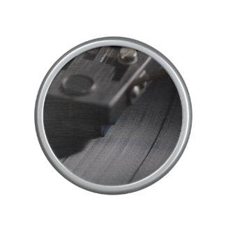 Speaker: Vinyl Record on a Turntable Speaker