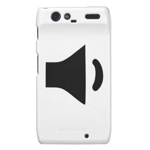 Speaker Volume Motorola Droid RAZR Covers