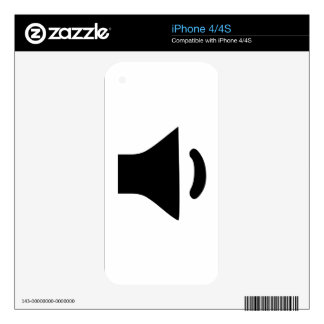 Speaker Volume iPhone 4 Skins