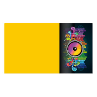 speakers-258175 COLORFUL RETRO RAINBOW SPEAKERS PA Double-Sided Standard Business Cards (Pack Of 100)