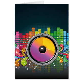 speakers-258175 COLORFUL RETRO RAINBOW SPEAKERS PA Card