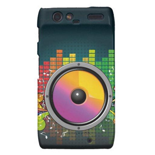 speakers-258175 COLORFUL RETRO RAINBOW SPEAKERS PA Motorola Droid RAZR Cover