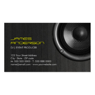 Speakers DJ Music Event Production business cards