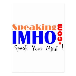 Speaking IMHO Postcard