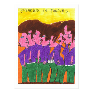 Speaking in Tongues Postcard