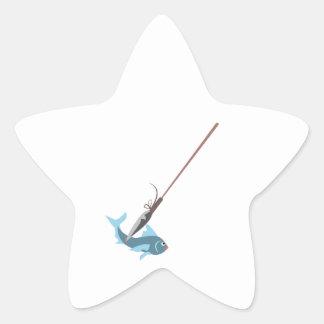 Spear Fishing Star Sticker
