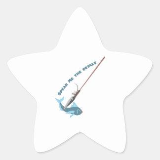 Spear Me The Details Star Sticker