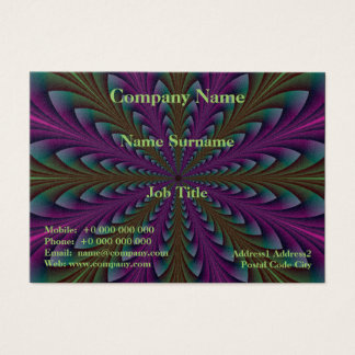 Spear Points in Purple and Green Business Card