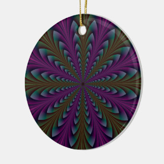 Spear Points in Purple and Green Ornament