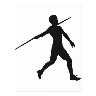 spear throwing postcard