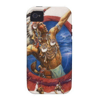 Spear Warrior Native American Case-Mate iPhone 4 Cases