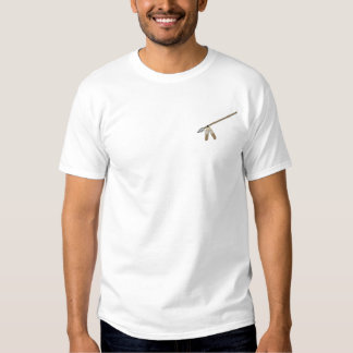 Spear with Feathers Embroidered T-Shirt
