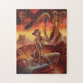 Spear Woman 11x14 Photo Puzzle with Gift Box