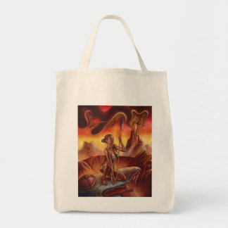 Spear Woman Grocery Tote
